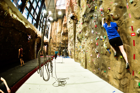 Climbing wall opens to community