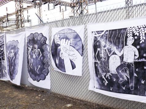 Art Department Provides Printmaking for Dia de los Muertos Celebration