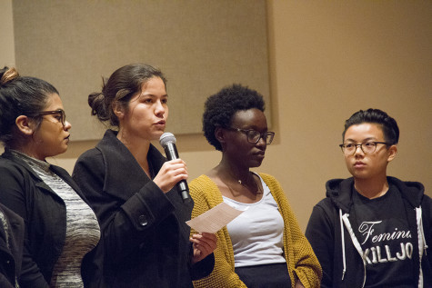 Protesters Attend Women In Leadership Symposium