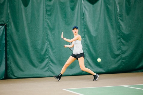 With strong first-year talent, women's tennis earns key win at Winter Classic Invitational
