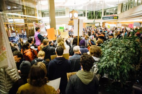 Whitman Community Joins Nationwide Airport Protests