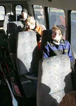 Bluewood bus seats remain empty after registrants do not appear on scheduled trips. Credit: Kim.