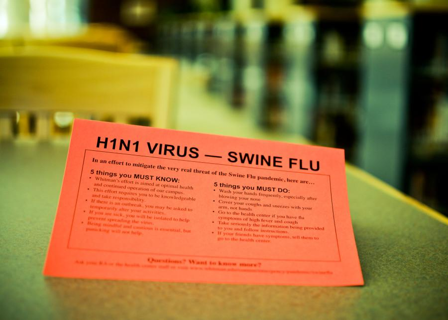 Whitman is undergoing significant preparations in case of a swine flu emergency.