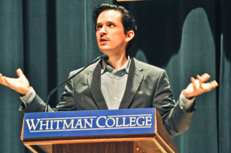 """The Last Town on Earth"" author Thomas Mullen lectures to Whitman students"