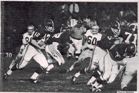 The 1969 football team makes a last effort in what proved to be Whitman's last winning season. Courtesy photo.