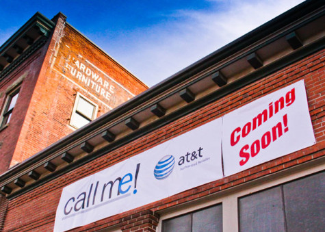 AT&T to beef up local reception, open downtown store