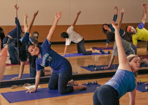 Missy gets athletic: Namaste!