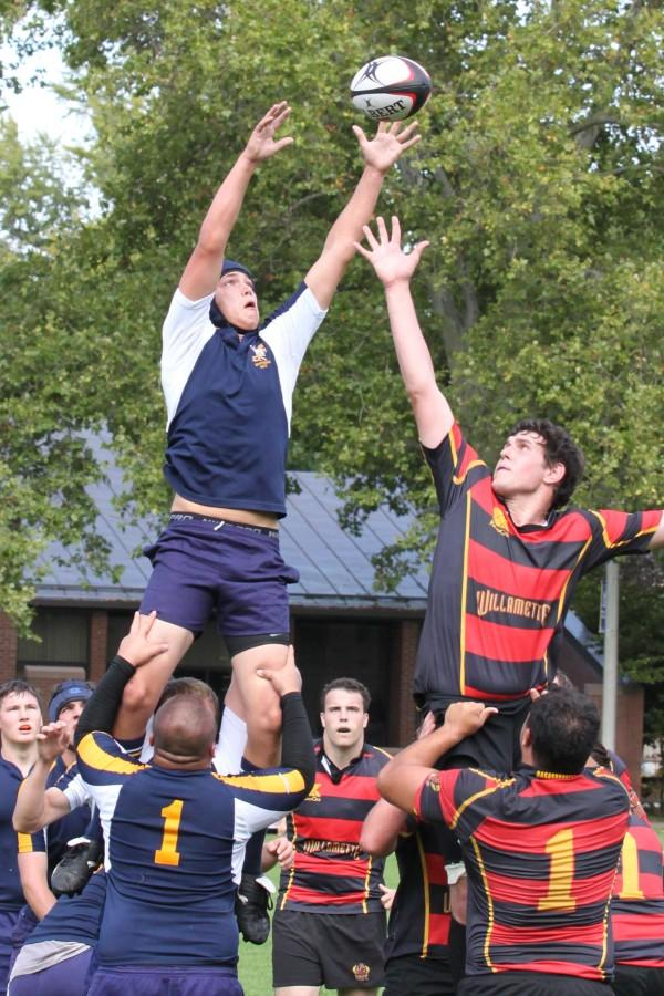 Background: Will Cooper '12 and Ben Skotheim '13. Lifting Players: