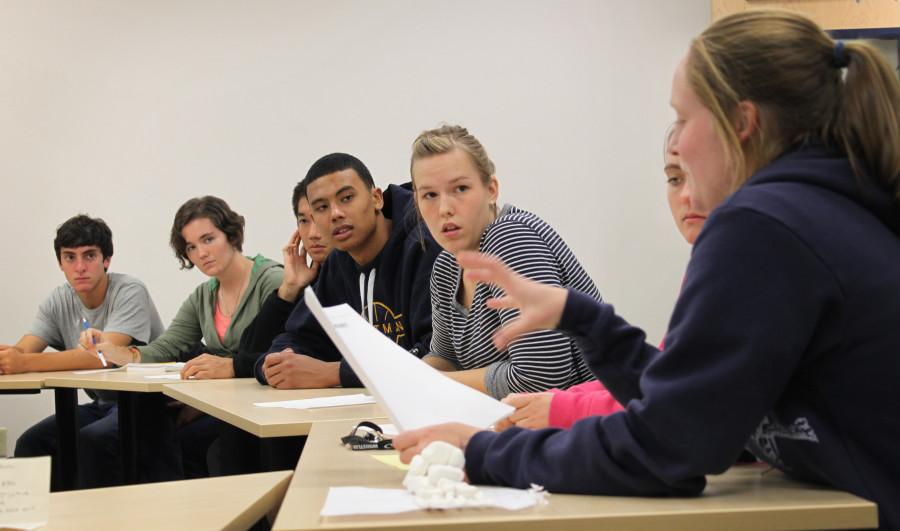 SAAC meets to discuss fall visitors day this friday.  Photo Credit: Ethan Parrish