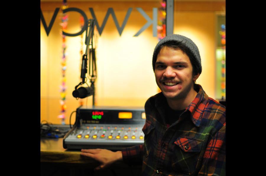 Matt Bachmann 11 in the KWCW studio. Photo Credit: Kendra Klag