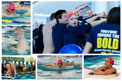 Swim team closes regular season, celebrates seniors