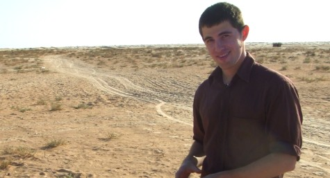 Teal Greyhavens during filming in the Sahara Desert.