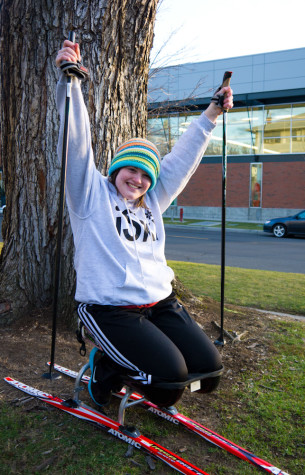 Paralympic athlete in training incorporates athletics into college life