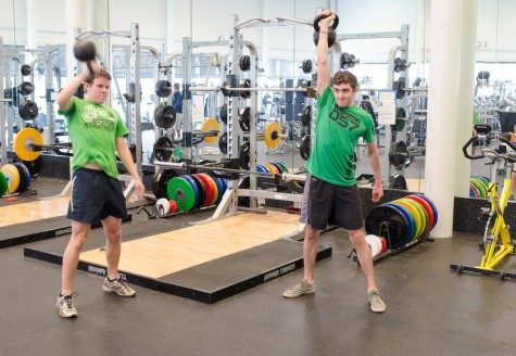 Spencer Corwin '14 and Colin Brinton '15 feel challenged and energized by CrossFit workouts.