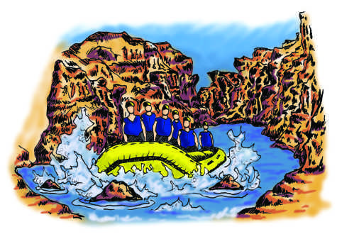 Whitman Group Rafts the Grand Canyon