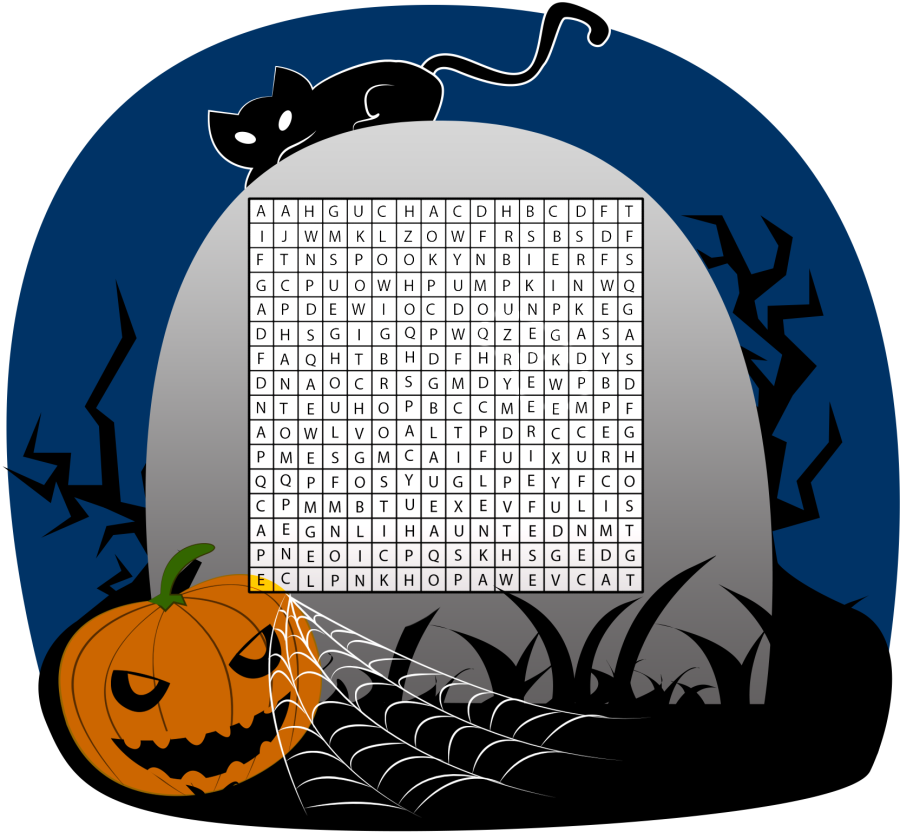 Words For Halloween Word Search