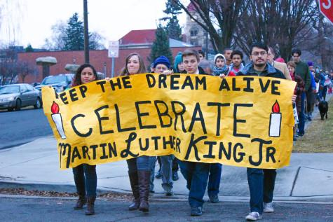 Students Participate in Peace March in Honor of Martin Luther King, Jr.