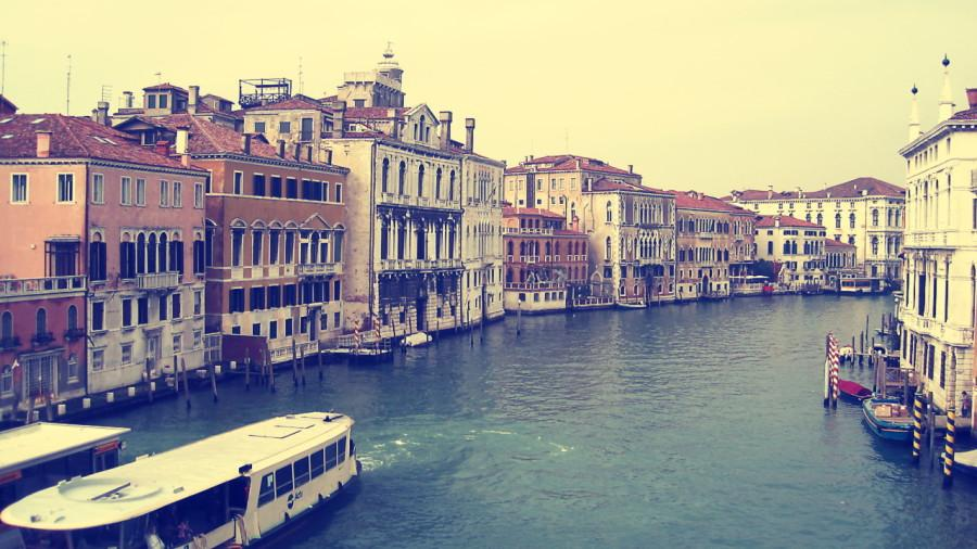 A canal in Venice.