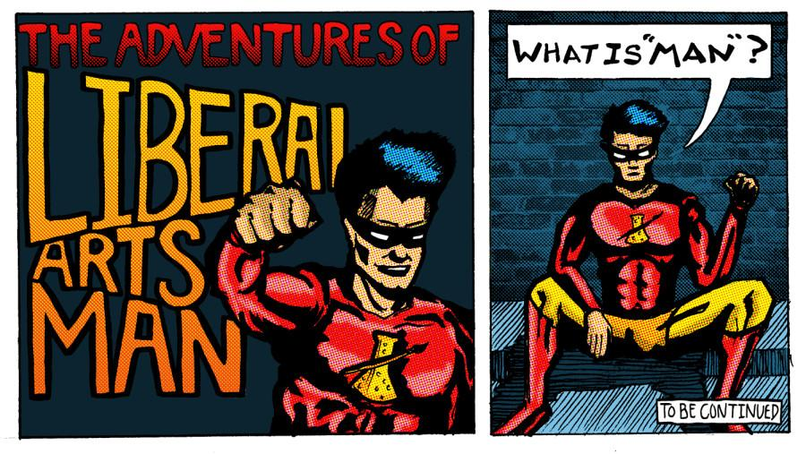 Cartoon: Liberal Arts Man