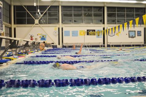 Swimmers enter break near top of conference