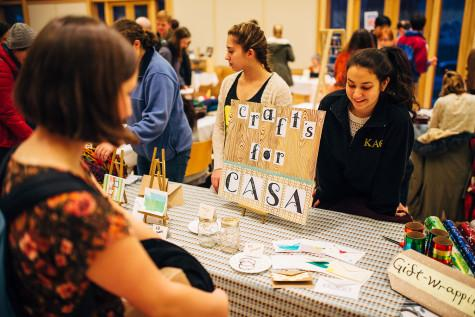 Students sell their wares at Winter Craft Fair