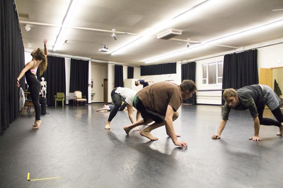 Dancers rehearse for Peter deGrasse's piece. Photo by Hannah Bashevkin.