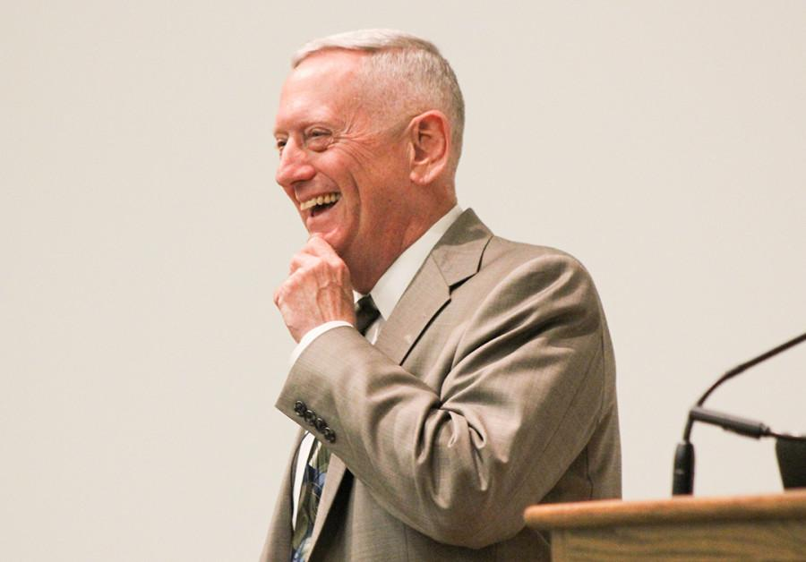 General Mattis spoke at Whitman College the night of March 31, 2015. Photo by Marra Clay.