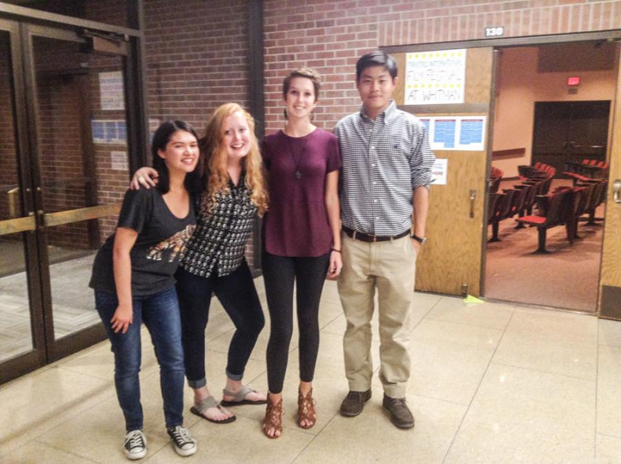(Left to right) Emma casley, Noelle butler, Meg Logue and John Lee. Photo contributed by Jonh Lee.