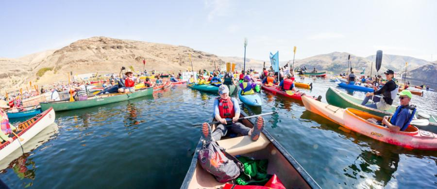 Students Protest Snake River Dams with Flotilla