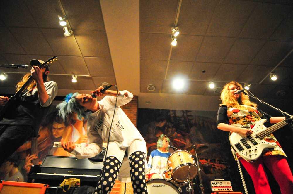 Tacocats performing in Reid Campus Center. Photo by Alan Mendoza.