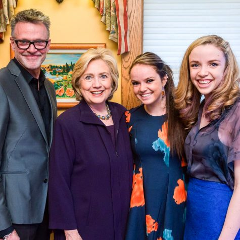 Olivia Barry and family meet presidential candidate Hillary Clinton.