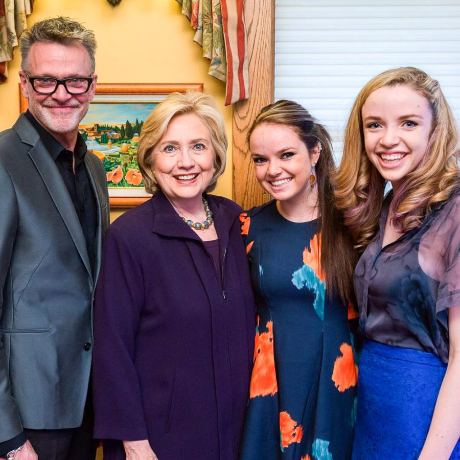 Olivia+Barry+and+family+meet+presidential+candidate+Hillary+Clinton.+
