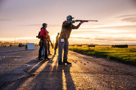 Trap shooting practice at the Walla Walla Shoot. Photo by Tywen Kelly.