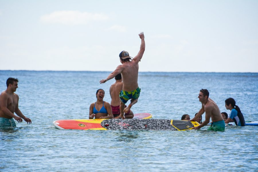Swim Team Hits the Beach