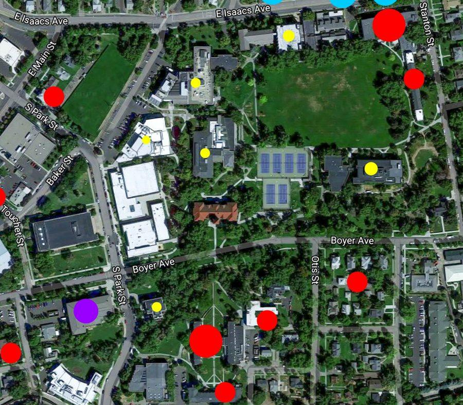 Since September 2013, several hundred crimes have been recorded in Whitman's Campus Crime Log. Of those, almost 40% occurred in and around residence halls.