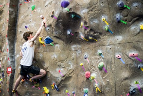 Climbers from All Over the Northwest Hit the Climbing Wall for the Sweet Onion Crank