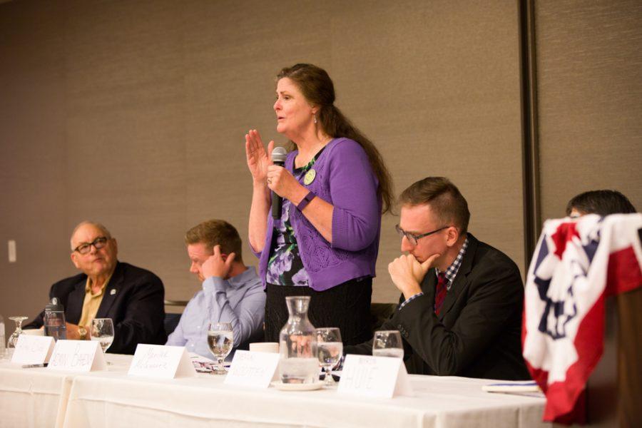 Candidate Marilee McQuarrie. Photo by Taj Howe