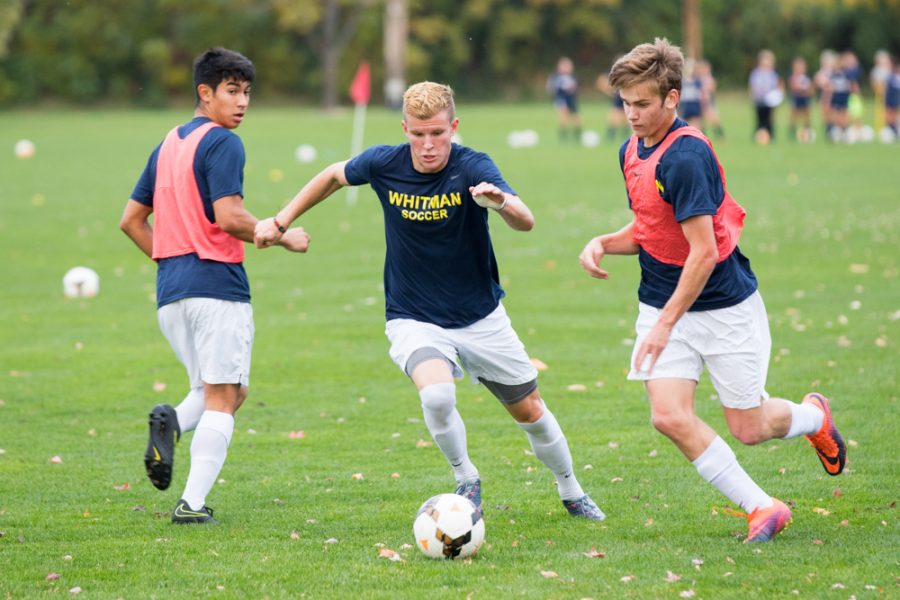 Senior Noah Cavanaugh during practice