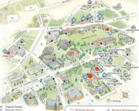 Larger dots represent larger population of Sophomore student residence. Contributed by Neal Christopherson.