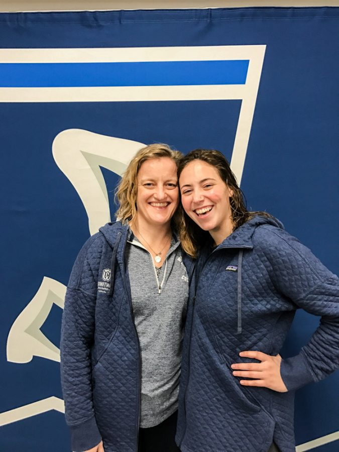 Head Coach Jennifer Blomme and Mara Selznick ('20) enjoyed their time at the Swim- ming National Championships in Indianapolis.