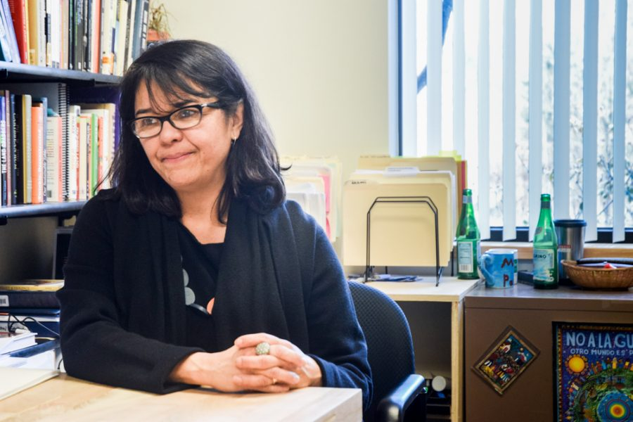 """Professor MenjÍvar spoke with The Wire in addition to giving a publicly attend- ed talk titled """"Law, Media, and the Criminalization of Immigrants: Constructions and Consequences"""" on February 28."""