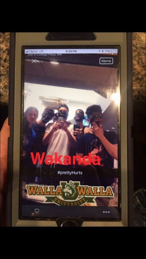 The photo of Walla Walla University stu- dents that circulated social media.