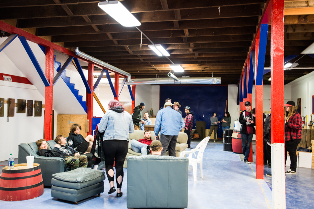 Hannah Bartman '16 helped to open The Barn, a new studio art collective in Walla Walla. It officially opened on April 8 with a night of live music and drinks.