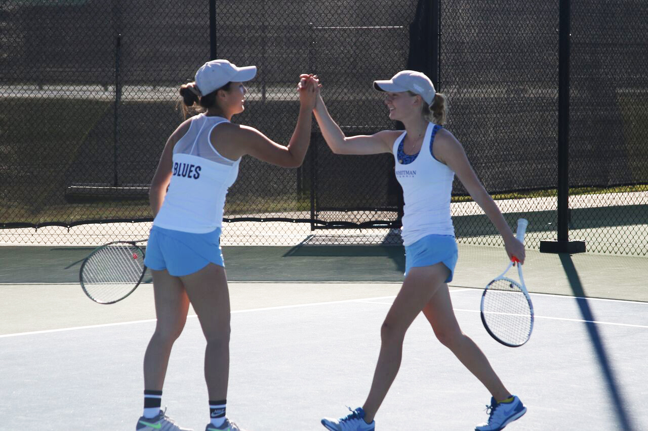 Andrea Gu and Mary Hill served on the doubles team that traveled to Rome, Georgia. Photo contributed by Andrea Gu