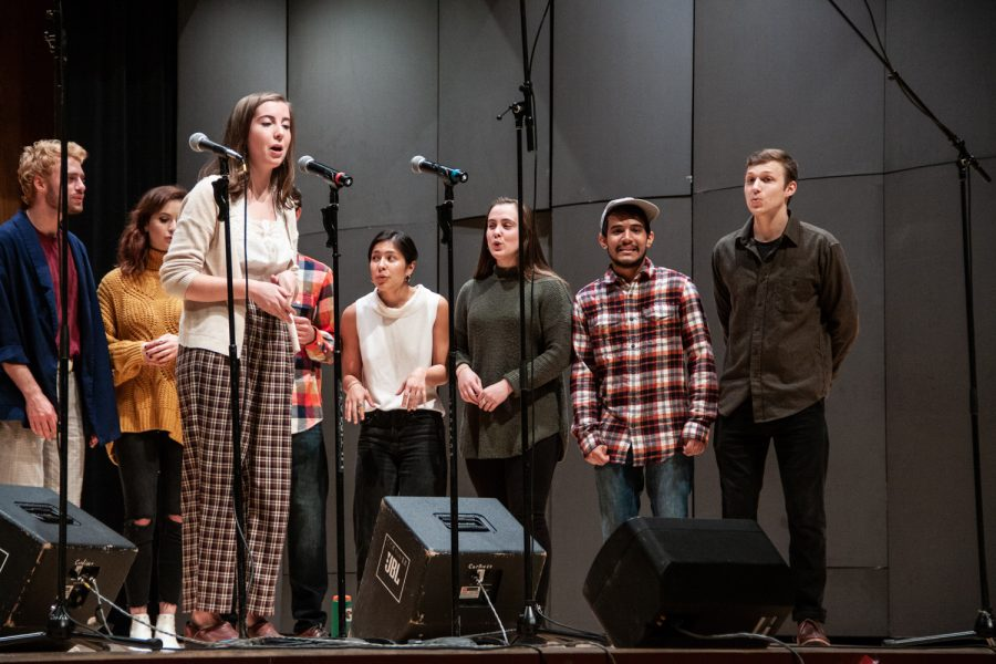 Whitman+mixed-gender+a+cappella+group+Schwa+was+one+of+several+groups+performing+at+the+Speakeasy+Concert.+