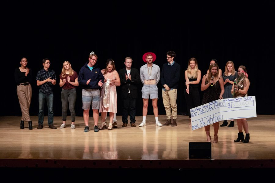 The+contestants+and+members+of+Kappa+Kappa+Gamma+presented+a+check+for+%2435%2C000+to+the+STAR+Project%2C+a+nonprofit+in+Walla+Walla+dedicated+to+helping+recently+released+felons.+