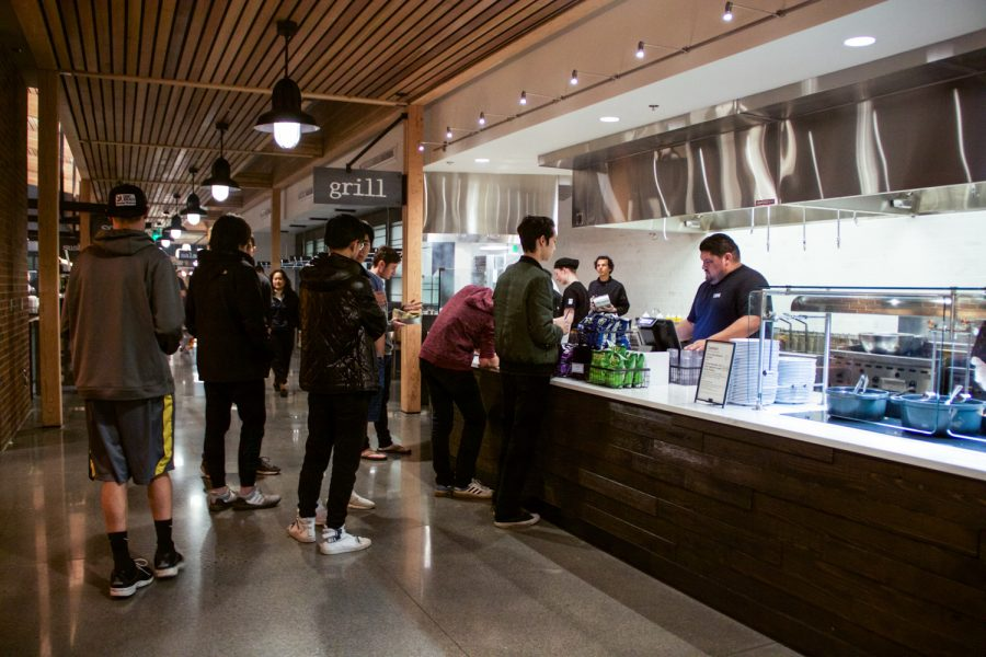The new dining hall on campus provides more options for students living on campus but the greater variety in food increases meal prices.