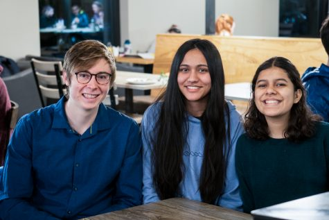 Adam Rooney, Jhunam Sidhu, and Nadyieli Gonzalez Ortiz (left to right) the founders and leaders of the new Inter(national) Whitties Club.