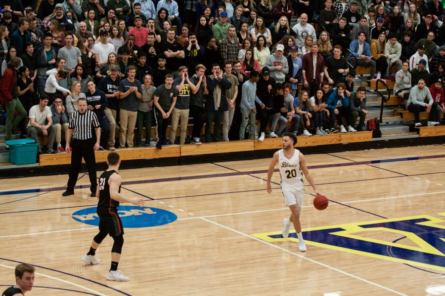 Mens basketball secured a 110- 98 win against Whitworth