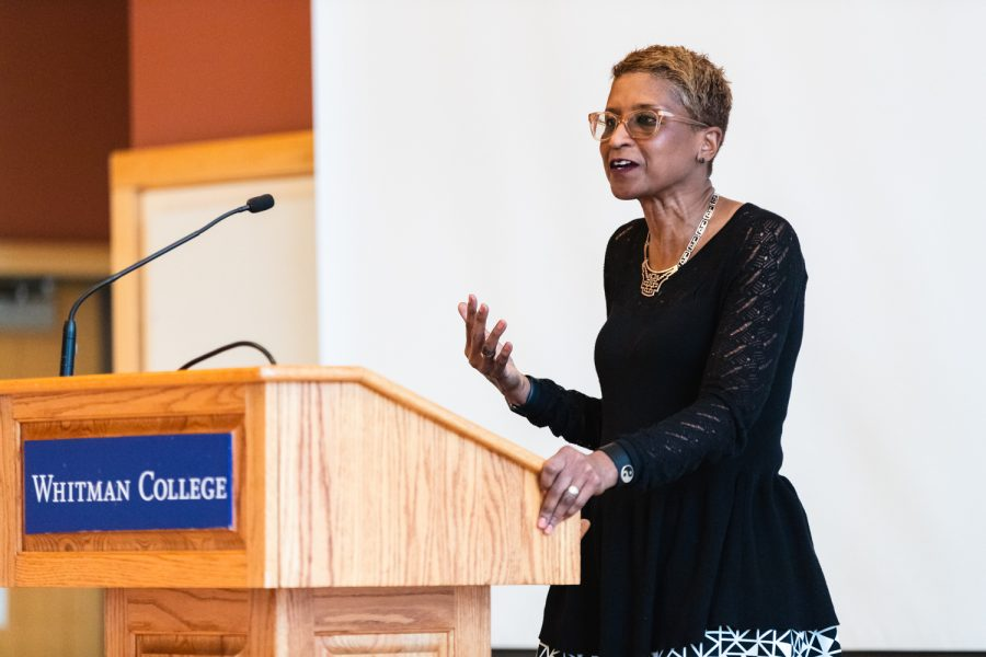Keynote speaker Paula Boggs shared her tips for effective leadership at this year's Women in Leadership Lunch
